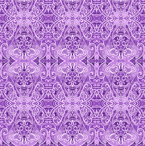 Everything is Coming Up Lavender (a royal and elegant abstract) fabric by edsel2084 on Spoonflower - custom fabric