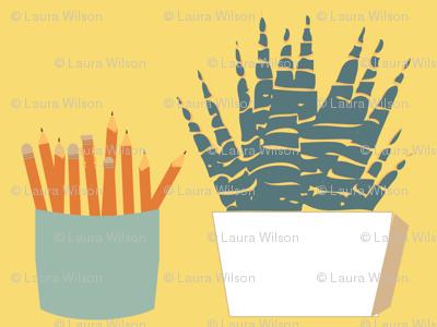 Desk Buddies: Pencils and Plants