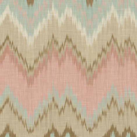 Ikat Chevron fabric by willowlanetextiles on Spoonflower - custom fabric