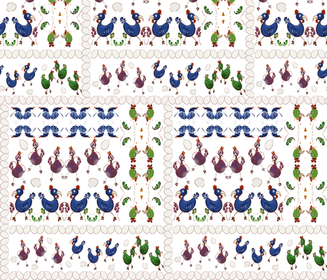 dancing_chickens fabric by tat1 on Spoonflower - custom fabric