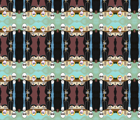 Bone Gothic fabric by boneyfied on Spoonflower - custom fabric
