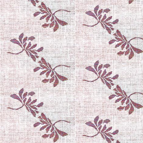 Twin Lotus- plum wine/white fabric by materialsgirl on Spoonflower - custom fabric