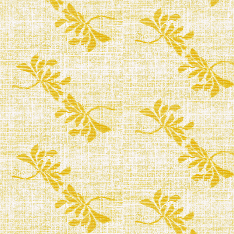 Twin Lotus- yellow/white fabric by materialsgirl on Spoonflower - custom fabric