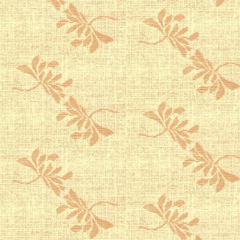 Twin Lotus- peach fabric by materialsgirl on Spoonflower - custom fabric