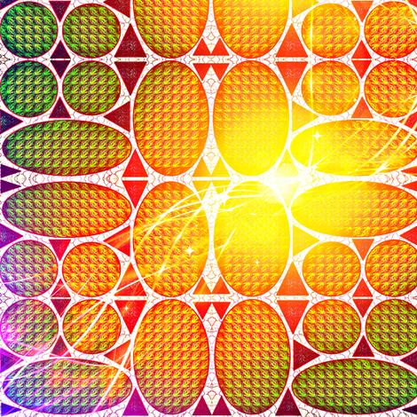 Quad Suns fabric by ravynscache on Spoonflower - custom fabric