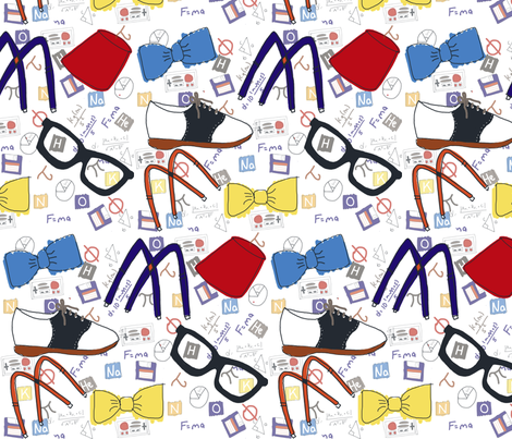 Geek Wear fabric by wittythings on Spoonflower - custom fabric