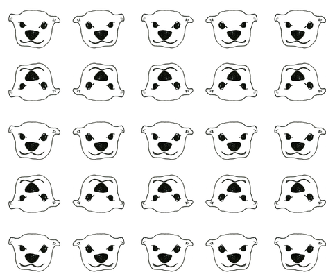 Baby Otter Face fabric by prettywhitepaintings on Spoonflower - custom fabric