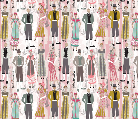 Pride and Prejudice Fabric fabric by angelastevens on Spoonflower - custom fabric