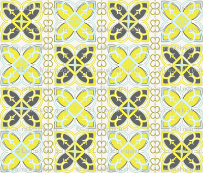 Asian Patterns Citr Gry Fabric Alchemiedesign Spoonflower