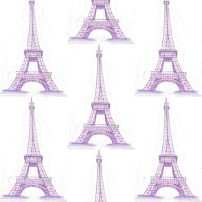Eiffel Tower in purple - large scale