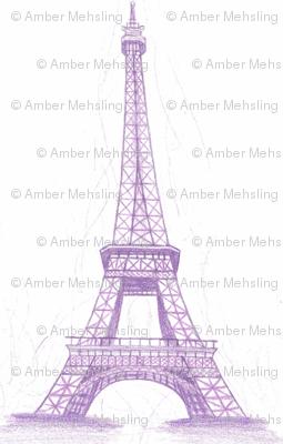 Eiffel Tower in purple - small scale