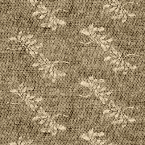 Twin Lotus - beige & brown fabric by materialsgirl on Spoonflower - custom fabric