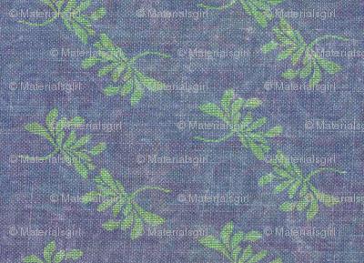 twin lotus - green with subtle blue/purple swirls