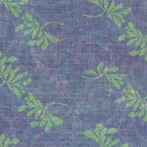 twin lotus - green with subtle blue/purple swirls
