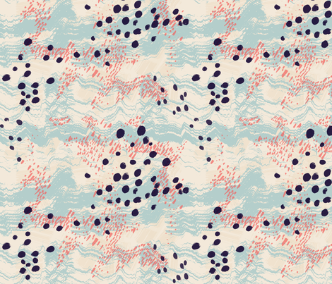 Field of Waves fabric by inspirationpenniless on Spoonflower - custom fabric