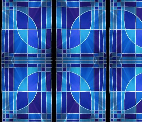 bougainvillea blossom in blue fabric by kiskidee on Spoonflower - custom fabric