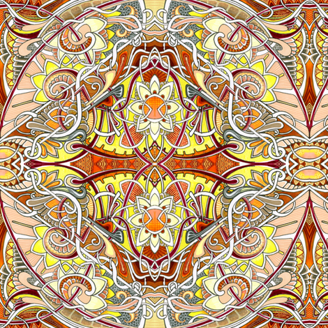 My Crystal Ball Sees it All fabric by edsel2084 on Spoonflower - custom fabric