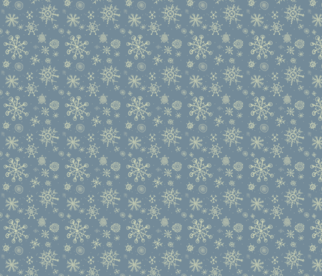 snowflakes are falling fabric by mezzime on Spoonflower - custom fabric