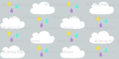 Yummy colourful rain grey