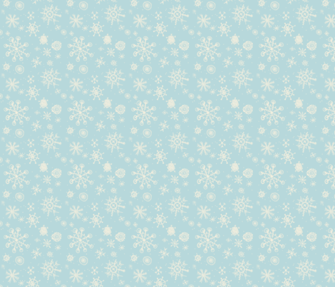 snowflakes are gently falling backwards fabric by mezzime on Spoonflower - custom fabric