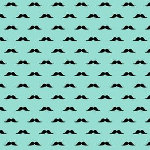 Yummy turquoise moustaches