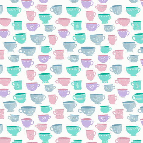 Tea for two  fabric by mezzime on Spoonflower - custom fabric