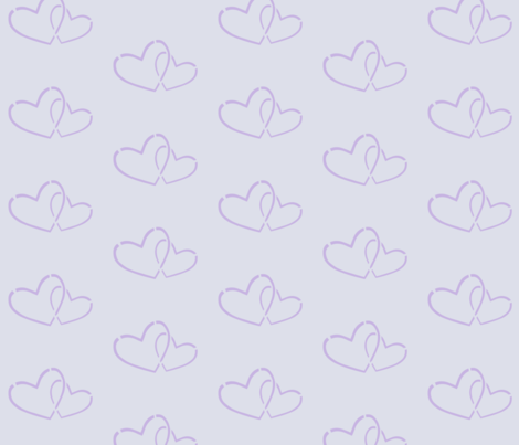Hearts together fabric by mezzime on Spoonflower - custom fabric