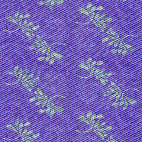 twin lotus in deep purple with green fabric by materialsgirl on Spoonflower - custom fabric