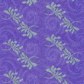 twin lotus in deep purple with green