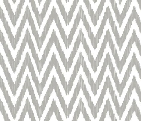 Gray Chevron Ikat fabric by bohemiangypsyjane on Spoonflower - custom fabric