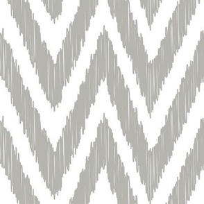 Gray Chevron Ikat