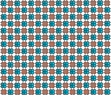 ARCO Design Turq & Orange fabric by tulsa_gal on Spoonflower - custom fabric
