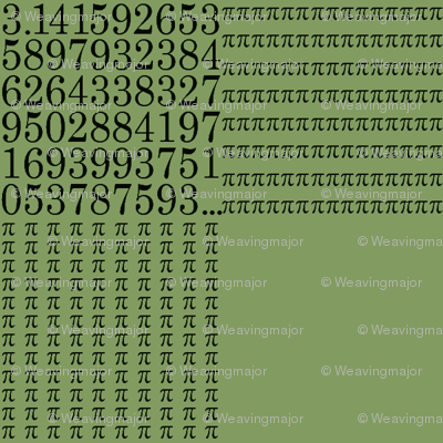 pi are square (vintage green)