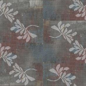 Twin lotus - wine, grey, blue, white