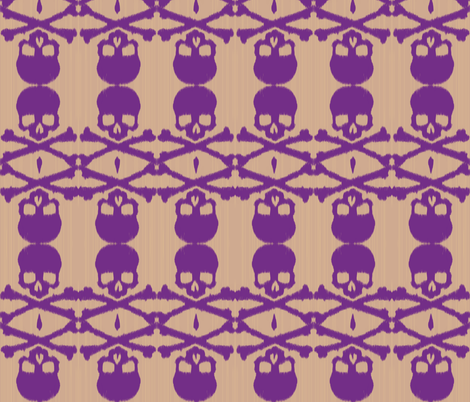 ikat skulls & cross bones fabric by fable_design on Spoonflower - custom fabric