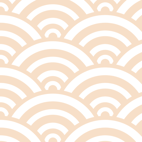 seigaiha in pearl fabric by chantae on Spoonflower - custom fabric