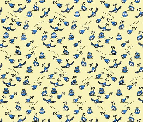 Playful Baby Owls fabric by martaharvey on Spoonflower - custom fabric