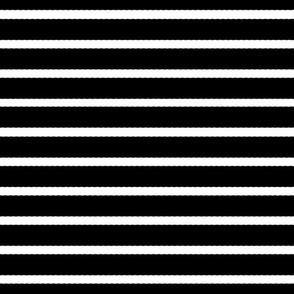 Black Scalloped Stripes