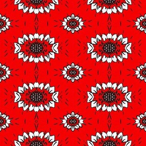 Red flower bandana 01