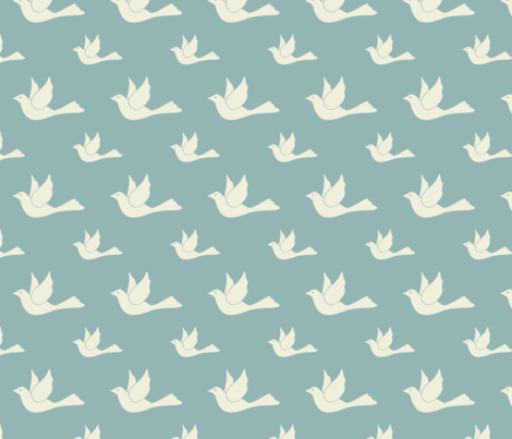 I dove you too much fabric by mezzime on Spoonflower - custom fabric