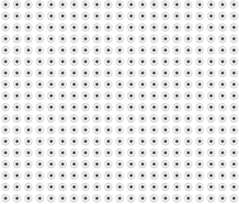 Black&White Eyes on white fabric by ultrapacifist on Spoonflower - custom fabric