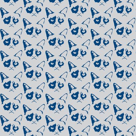 Cat Shadow Blue fabric by knitmileofdoom on Spoonflower - custom fabric