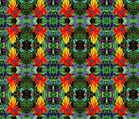Hawaiian Torch Starburst Flower fabric by hrhsf-designs on Spoonflower - custom fabric