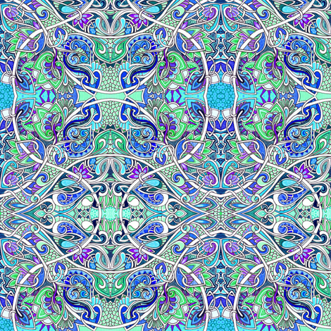 At the Sine of the Arrow fabric by edsel2084 on Spoonflower - custom fabric