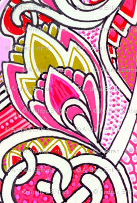 Dancing with the Deco Buds (pink vertical stripe)