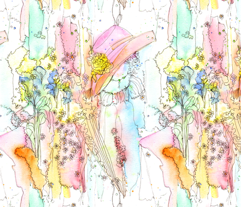 Daydream in a Regency Garden fabric by wiccked on Spoonflower - custom fabric