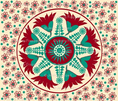 Eliza's Regency Embroidery Pattern © Indigodaze2013