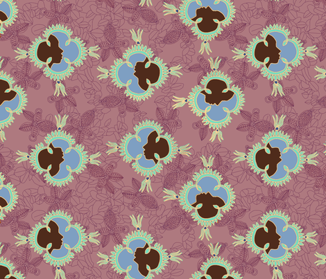 African Visage Spring fabric by bloomingwyldeiris on Spoonflower - custom fabric