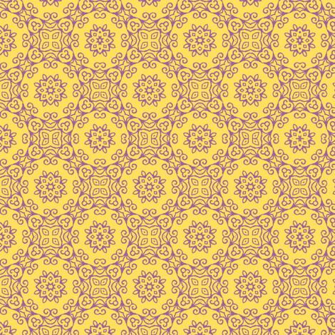 zesty  PURPLE fabric by kerryn on Spoonflower - custom fabric
