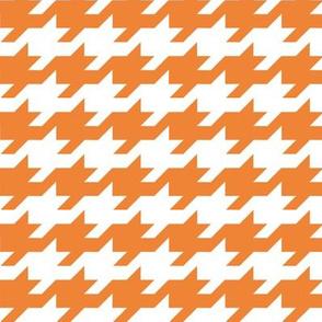 Houndstooth - Orange and white